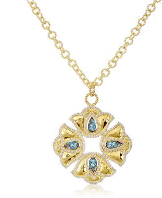 Amrapali Legend Kaliyana Lotus Pendant Necklace with Diamonds