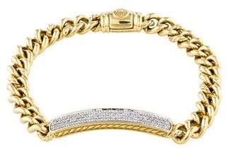David Yurman 18K Diamond Petite Pavé ID Bracelet