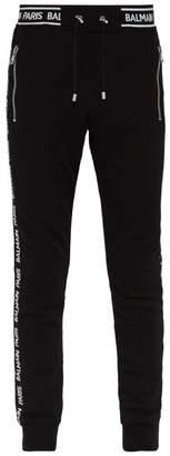 Balmain Elasticated Logo Sweatpants - Mens - Black