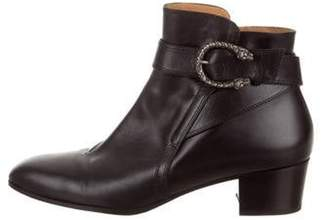 Gucci Dionysus Leather Ankle Boots Black Dionysus Leather Ankle Boots