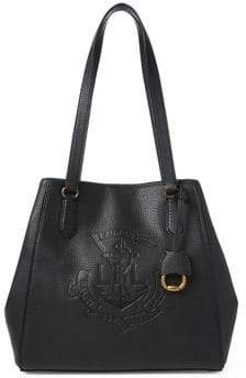 Lauren Ralph Lauren Anchor Leather Tote Bag