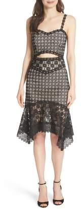 Alice + Olivia Tamika Handkerchief Lace Dress