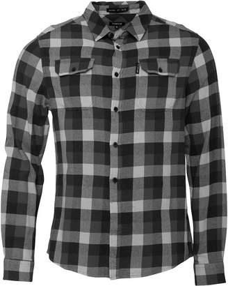 Firetrap Mens Albert Long Sleeve Shirt Black/Grey
