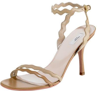 Prada Wavy Ankle-Wrap Sandal