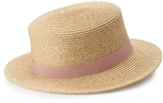 03f968fdadbeed Lauren Conrad Women's Packable Boater Hat