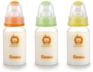Simba BPA Free Diamond Light Glass Natural Flow Standard Neck Feeding Bottle (Color Vary) (4 oz, 1pc)