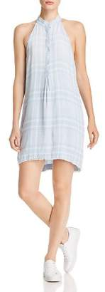 Bella Dahl Frayed Plaid Shift Dress