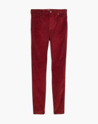"""Madewell Petite 10"""" High-Rise Skinny Jeans: Corduroy Edition"""