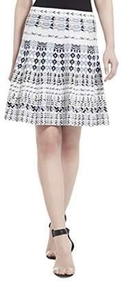 BCBGMAXAZRIA Women's Karlie Printed Flared Skirt