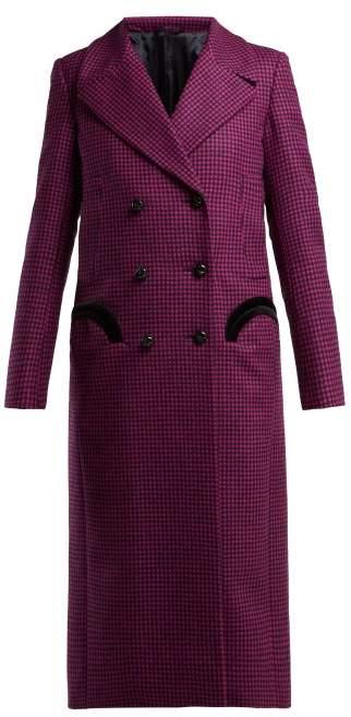 Blazé Milano Blaze Milano - Fair & Square Checked Wool Coat - Womens - Pink Multi