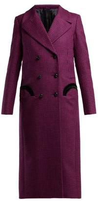 BLAZÉ MILANO Fair & Square Checked Wool Coat - Womens - Pink Multi