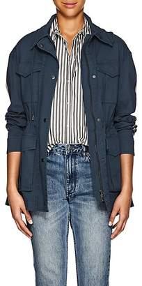 ATM Anthony Thomas Melillo Women's Striped Cotton Field Jacket - Blue