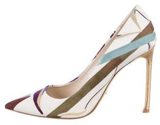 Christian Dior Woven Pointed-Toe Pumps