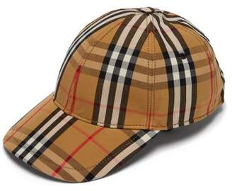 Burberry Vintage Check Cotton Baseball Cap - Womens - Camel