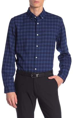 Calvin Klein Front Button Plaid Print Shirt