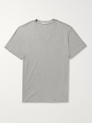 James Perse Melange Combed Cotton-Jersey T-Shirt - Men - Gray