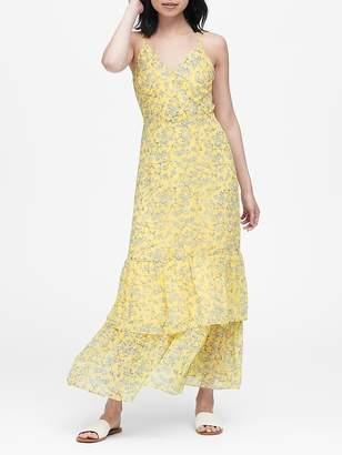 Banana Republic Floral Tiered Maxi Dress