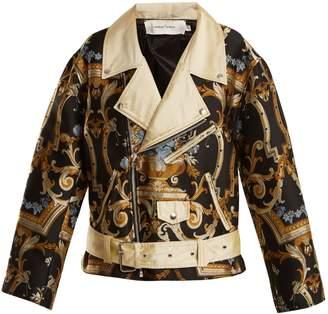Marques Almeida MARQUES'ALMEIDA Floral-brocade biker jacket