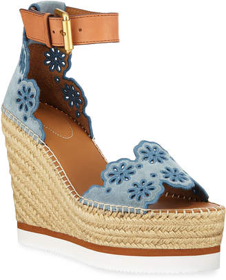 See by Chloe Eyelit Wedge Espadrille Sandals