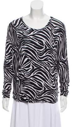 MICHAEL Michael Kors Long Sleeve Zebra Printed Top