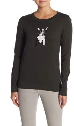 J.Crew J. Crew French Bulldog Crew Neck Sweater