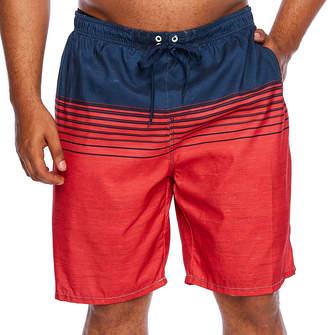 Burnside Stripe Swim Shorts Big and Tall