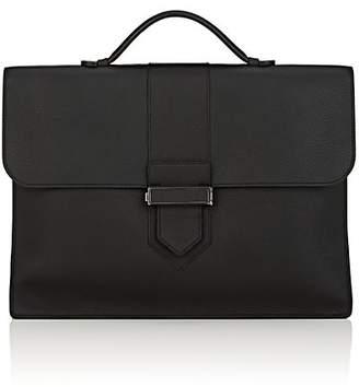 Delvaux Men's Leather Flap-Front Briefcase