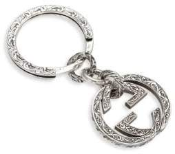 Gucci Sterling Silver Interlocking Key Ring