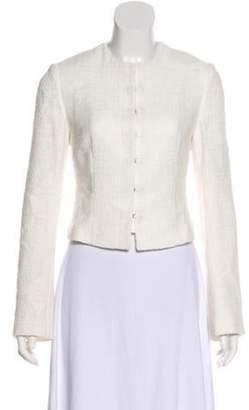 Dolce & Gabbana Cropped Structured Jacket White Cropped Structured Jacket