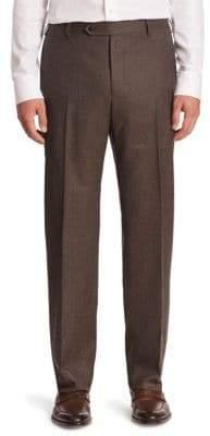 Zanella Solid Virgin Wool Trousers