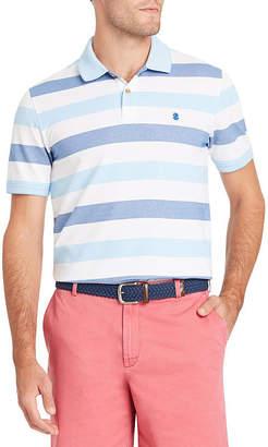 Izod Advantage Short Sleeve Stripe Pique Polo Shirt