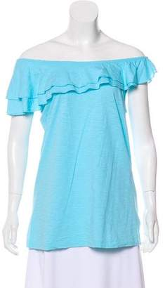 Lilly Pulitzer Asymmetrical Ruffle-Accented Top
