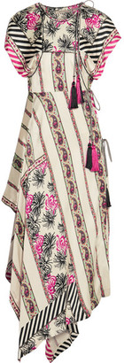 Etro - Asymmetric Printed Silk-satin Twill Wrap Dress - Beige $2,910 thestylecure.com