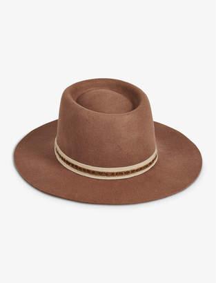 Lucky Brand VELVET GROSGRAIN WOOL HAT