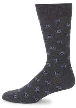 Saks Fifth Avenue Medallion-Print Crew Socks