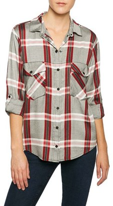 Women's Sanctuary Plaid Boyfriend Shirt $55.30 thestylecure.com