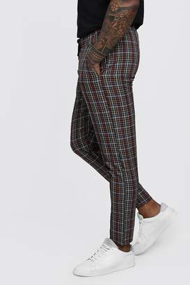 boohoo Check Smart Cropped Jogger Trouser