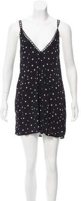 Reformation Lax Trimmed Mini Dress