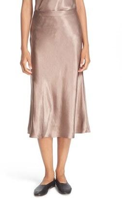 Women's Vince Satin Flare Midi Skirt $245 thestylecure.com