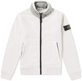 Stone Island Junior Concealed Hood Zip Sweat