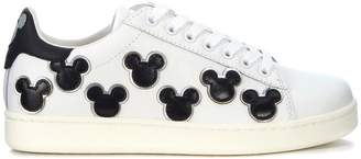 M.O.A. Master Of Arts Sneaker Moa Mickey Mouse In Pelle Bianca E Nera