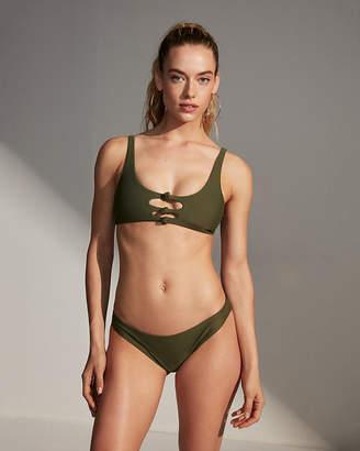 Express Knotted Scoop Neck Bikini Swim Top