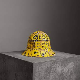 Burberry Graffiti Print Vintage Check Bucket Hat