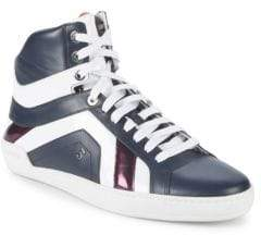 Bally Eticon Leather High-Top Sneakers