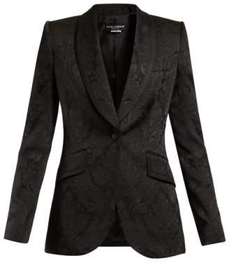 Dolce & Gabbana Shawl Lapel Brocade Blazer - Womens - Black
