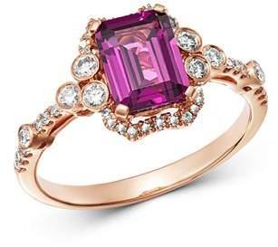 Bloomingdale's Rhodolite & Diamond Ring in 14K Rose Gold - 100% Exclusive