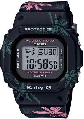 G-Shock Baby-g Women's Digital Black Floral Resin Strap Watch 40mm