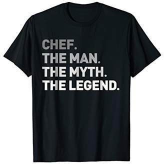 Chef The Myth Legend T-Shirt Cool Culinary Cooking Gift Tee