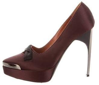 Lanvin Pointed-Toe Platform Pumps