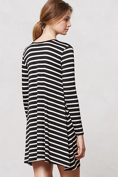 Anthropologie Swingstripe Day Dress